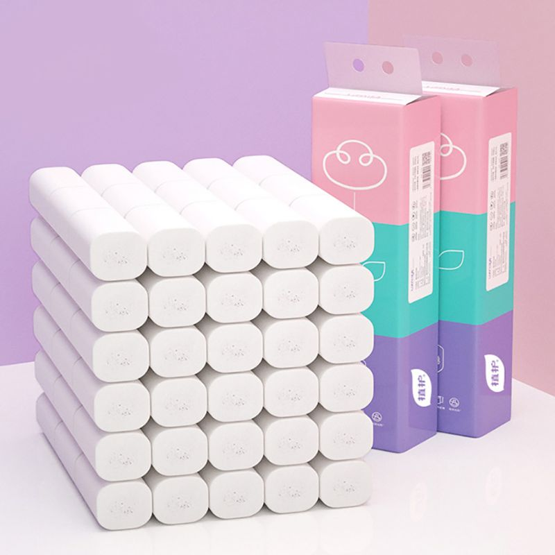 14 RollToilet Paper Coreless Web Toilet Paper Household Paper Towels 4 Layers 12 Rolls Of Natural Soft And Delicate Toilet Paper