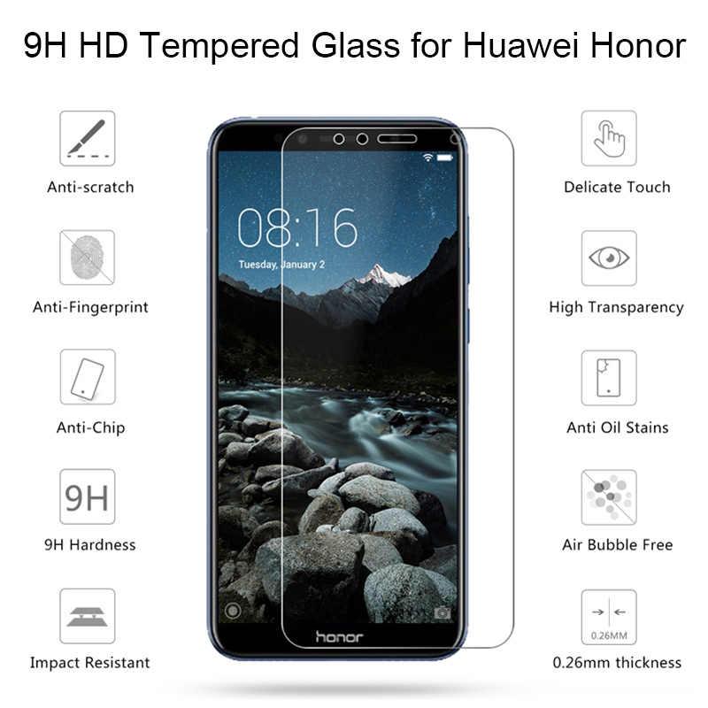 """Kaca Tempered untuk Kehormatan 6C 5C 4C Pro 3C Hard Pelindung Kaca untuk Huawei Kehormatan 6A 4A 3A 5A 5.5 """"5A Unggulan Eropa 5.0"""" Pelindung Layar"""