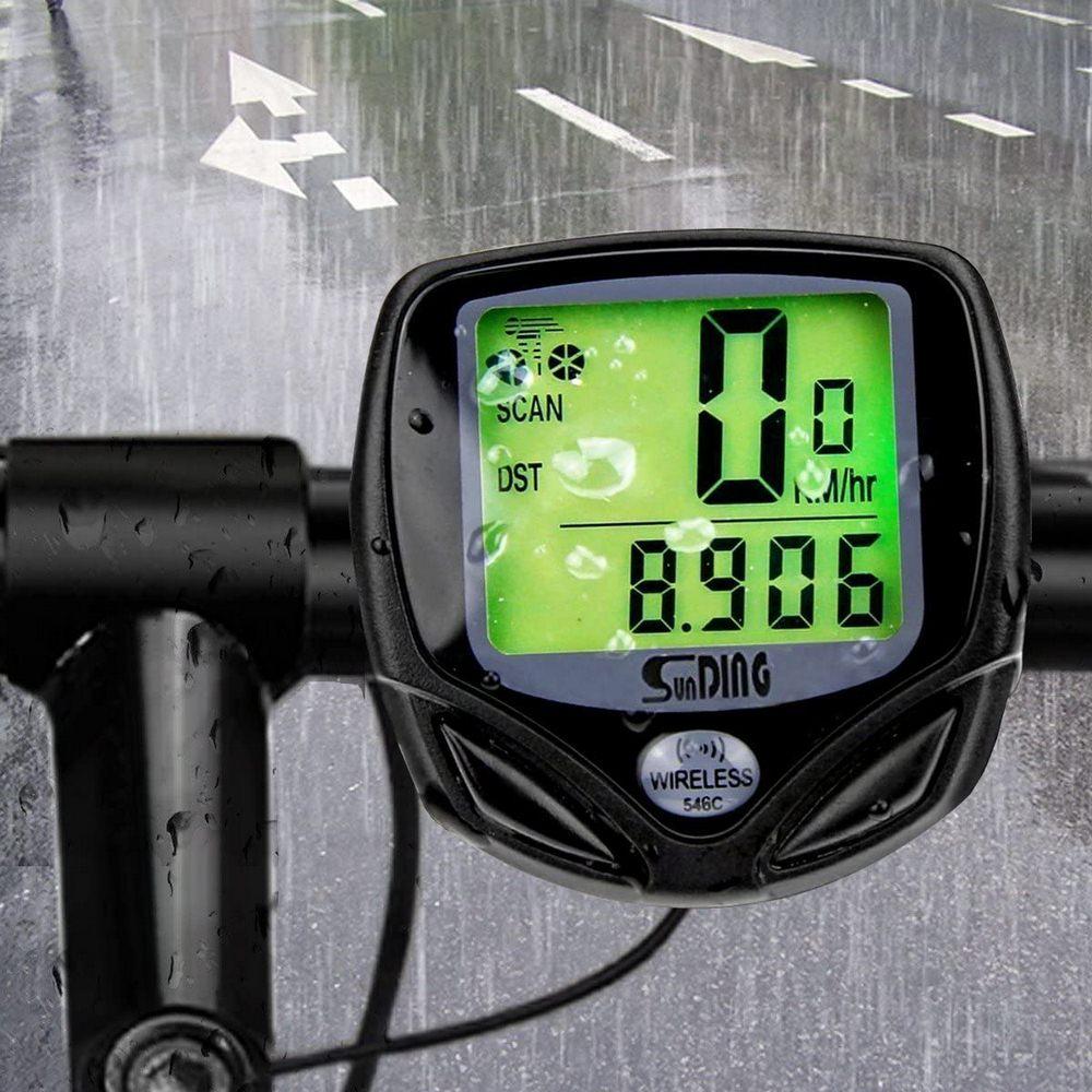 Wireless LCD Bike Computer Waterproof Bicycle Speedometer Digital Backlight Odometer Clock Cycling Stopwatch Bike Accessories