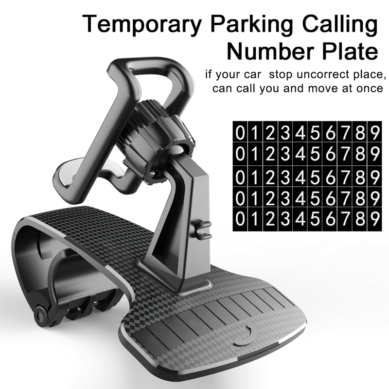 Phone-Holder-HUD-Car-Dashboard-Phone-stand-360-Rotation-Adjustable-GPS-Car-Clips-holder-for-Universal