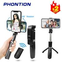 3 en 1 Selfie Stick Extensible/de Aluminio/para Movil 2.8-4.3 Rotaci/ón 360/° TECELKS Palo Selfie Tr/ípode con Control Remoto Bluetooth Mini Tripode para viaje Compatible con Iphone y Android
