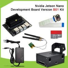 Zestaw programisty Nvidia Jetson Nano wersja B01 płytka rozwojowa AI + kamera AI + zasilacz prądu stałego ue + karta TF + obudowa