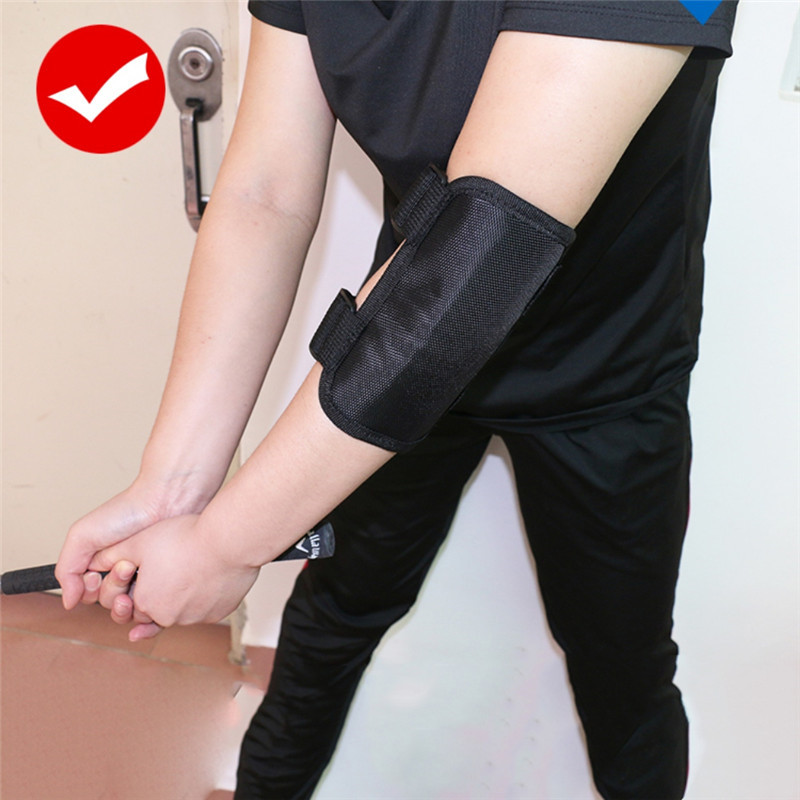 Golf Elbow Brace Arc Corrector Straight Practice Golf Swing Training Aids Arm Bending Alarm Accessories Sports