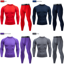 Mens Compression Sportswear Suit GYM Tight Clothes Gym Yoga Suits workout jogging MMA Sports clothing Tracksuit Pants Sporting