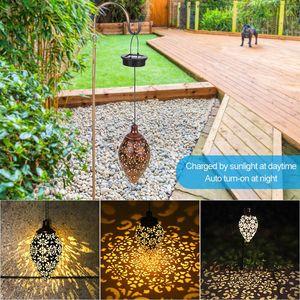 New Waterproof solar garden light LED Lantern Hanging Outdoor solar Lamp Olive Shape Sensitive Sensor Control Solar Powered lamp(China)
