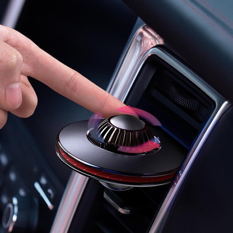 Novel Designed Car Air Freshener Car Fragrance Aluminum Alloy  Car Diffuser 2 Sizes Car Diffuser Vent Clip Scent For Car Pakistan