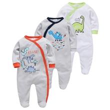 3pcs/set Newborn Girl Boy bebe fille Cotton Breathable Soft ropa bebe Newborn Sleepers Baby Pjiamas