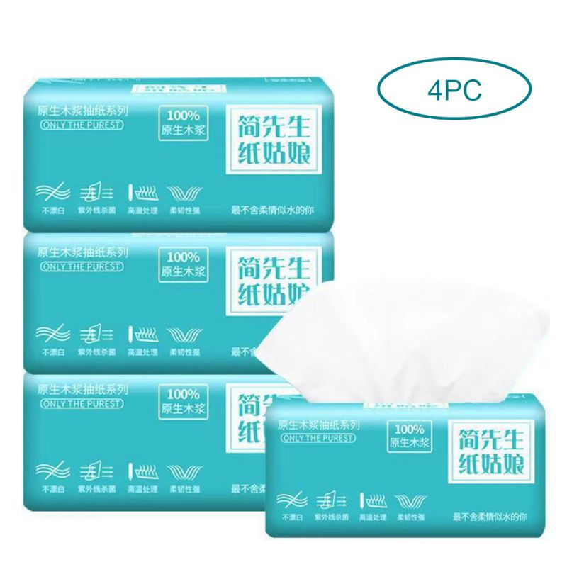 4pcs Paper Napkins Restaurant Paper Chemical-free Low Sensitivity Suitable For Sensitive Skin Toilet Paper