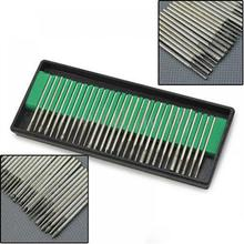цена на 30 Pcs 3mm Nail Drill Bits Set Pedicure Bits for Manicure Machine rod Filing Manicure Tool for Nail Art Drill Electric Nail File