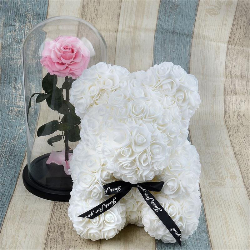 Pink Teddy Bear Roses Easter Mum Gift Flower birthday present Girlfriend