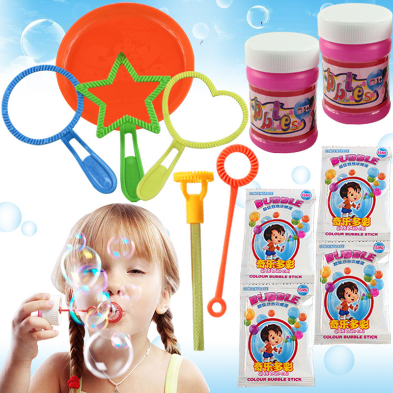 6Pcs/set Wand Tool Soap Bubble Concentrate Stick Soap Bubbles Bar Gifts Baby Toys Blowing Bubble For Outdoor Toy Funny Bubble