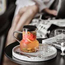 Nordic szklanka odporna na wysoką temperaturę fajne czajniki z zaparzaczem do herbaty dzbanki do kawy 700ml o dużej pojemności czajnik domowy tanie tanio Szkło Ekologiczne Zaopatrzony Ce ue Lfgb glass Solid Color water kettles Transparent Shape Round Milk Coffee Cup adults