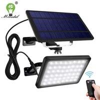 Solar Lichter Outdoor 48 LED 1000 Lumen Helle Solar Wand Scheinwerfer mit 5500mAh Batterie Auto Morgens Bis Abends Beleuchtung