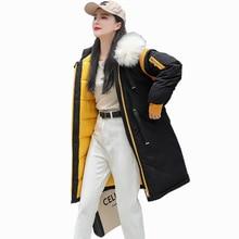 Women Down Jacket Plus Size 3XL Winter Coat Long Hooded Big fur collar Hat Parkas Fashion Bubble Coat Thick Warm Female Jacket 2016 european and american female winter hooded down jacket big yards thick warm coat hot new