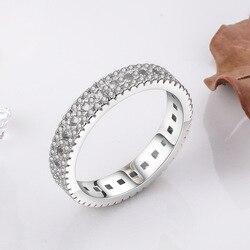 Naturalny pierścionek z białego złota 18K mężczyźni kobiety czysta 2 karaty diamentowa biżuteria Anillos De Bizuteria kamień mężczyzna zaręczynowy klasyczny pierścionek
