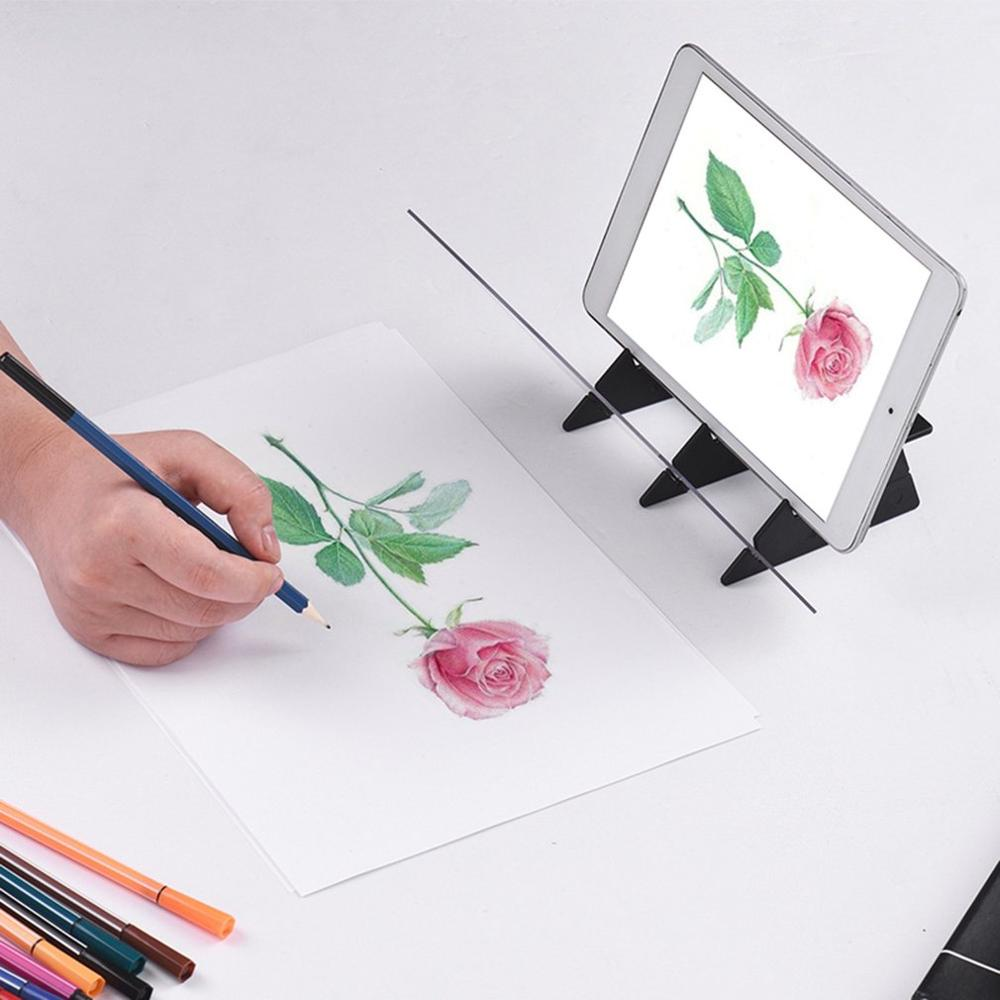 Optical Imaging Drawing Board Lens Sketch Mirroring Reflection Dimming Bracket Holder Painting Mirror Plate Trace Table Plotter