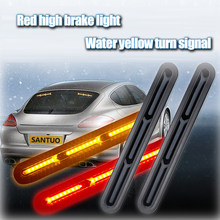 12V auto High Mount Brake red Stop Lights driving lamp red Car Styling High Additional Brake Lamp Warning Turn Signal yellow LED