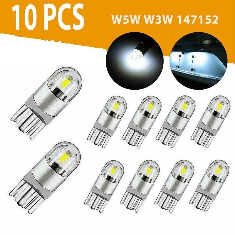 10 шт. 6000 LED Canbus T10 168 194 W5W Лицензия купол Боковой габаритный фонарь светодиодный светильник лампы белого цвета