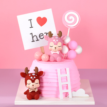 Cakesmile pink deer cake topper cupcake party for baking birthday decoration cake decorating tools baking accessories cakesmile pink deer cake topper cupcake party for baking birthday decoration cake decorating tools baking accessories