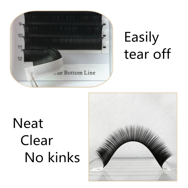 Makeup Flat Ellipse Split Tips Lashes Ellipse Shape Natural Light Faux Cils Ellipse Eyelashes Dark Black Matte Hair 10 Trays
