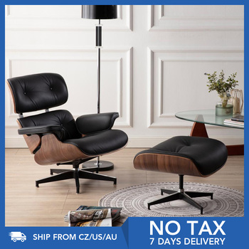 Furgle BIG SIZE XLStable Modern Classic Lounge Chair chaise furniture replica lounge chair real leather Swivel Chair Leisure 1