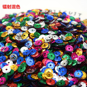 5 g/lot 6 MM Multi Color Sparkles Round Sequins for Crafts DIY PVC Sewing Needlework Accessories Nails Art Wedding Decorations(China)