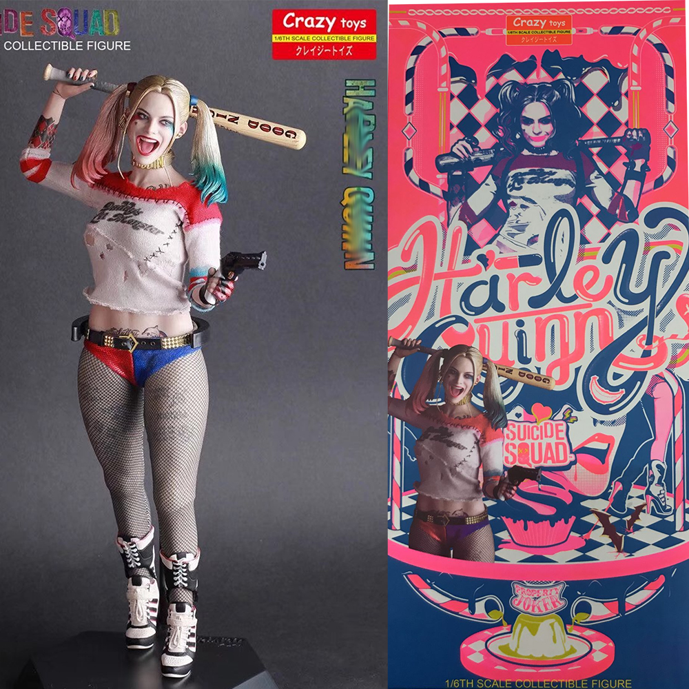 24CM Crazy Toys DC Comic Harley Quinn Figurine 1//12TH SCALE  Suicide Squad