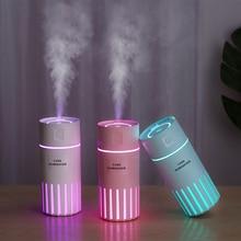 купить USB Humidifier Air Purifier with 7 Color LED Light 320ML Ultrasonic Aromatherapy Mist Maker Fogger for Home Car Aroma Diffuser онлайн