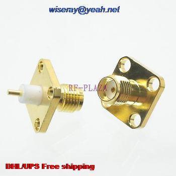DHL/EMS 500 шт. разъем внутренний разъем SMA с 4 отверстиями фланец PTFE паяльник Панель Крепление-A3