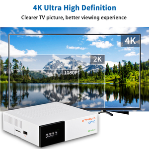 Image 4 - Спутниковый ТВ приемник GTMedia GTC, ресивер DVB S2/C/T2/ISDB T, Android 6,0, Приставка Smart TV Amlogic S905D, 2 ГБ, 16 ГБ, декодер H.265, поддержка m3u
