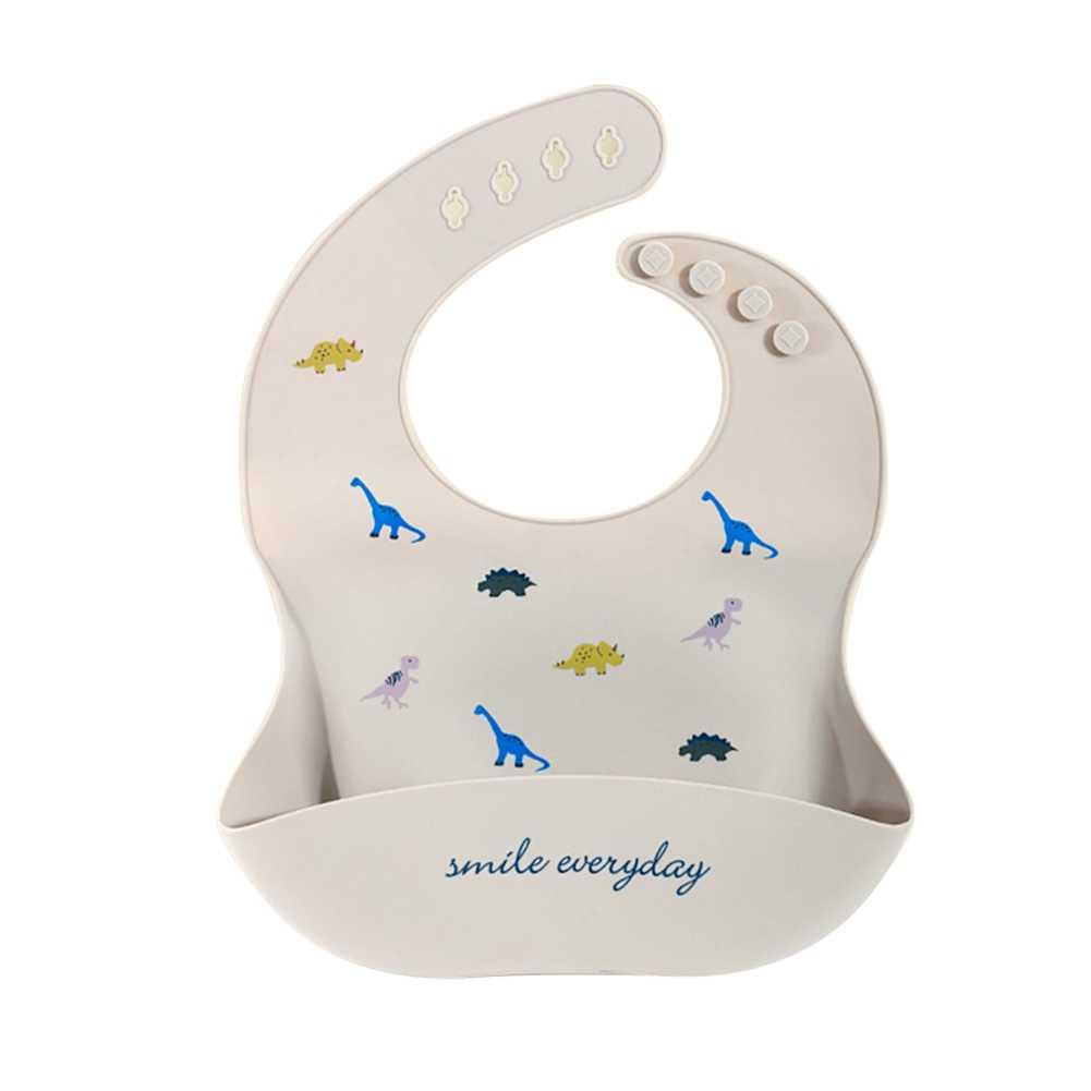 Baby Slabbetjes Verstelbare Waterdichte Siliconen Voeden Borstplaat Baby Bib Leuke Cartoon Dier Babyvoeding Burp Doek Kwijlen Sjaal