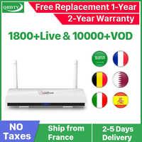 4K IPTV Франция коробка Spain Leadcool Android 8,1 с 1-летним QHDTV IPTV код подписки Испания Франция IP TV Арабский ящик