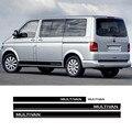 Для-Volkswagen Multivan T4 T5 T6, Автомобильный кузов, капот, задняя наклейка, 1 комплект, дверь, фотосессия, боковая юбка, полосы