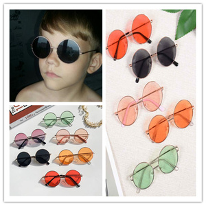 New Retro Round Frame Kids Sunglasses Baby Wild British Style Metal Sunglasses kids accessories Eyewear Shades Goggles