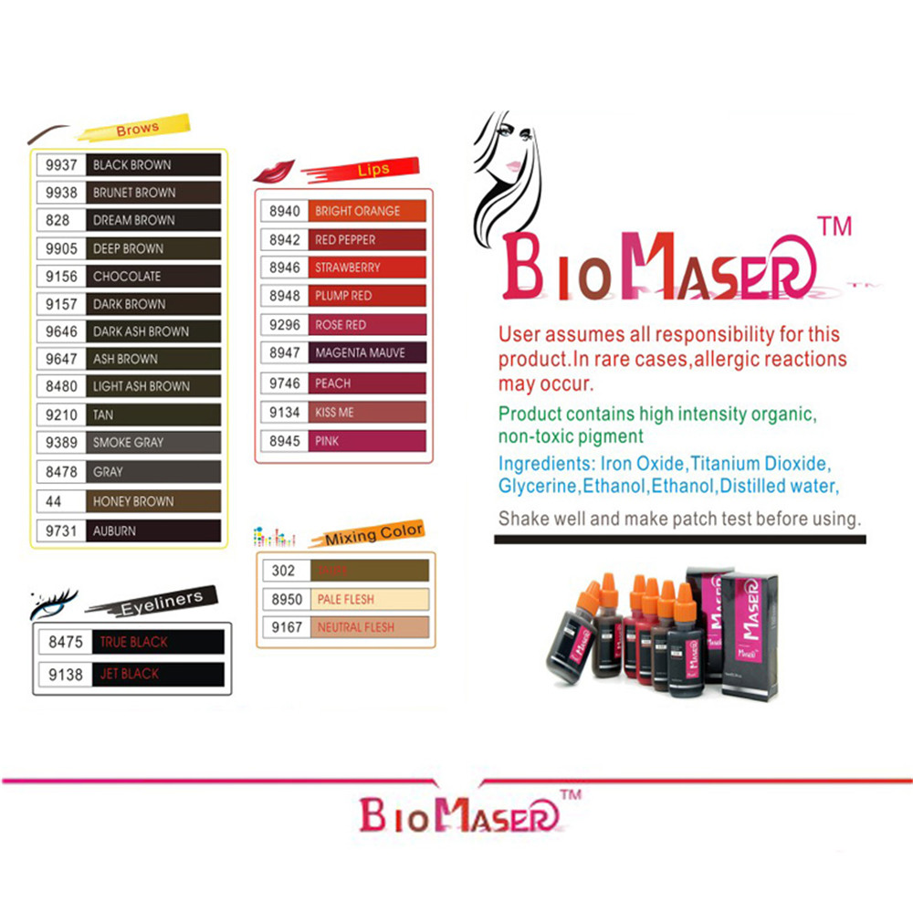 Professional Tattoo Ink Permanent Makeup Machine Micro Pigments Microblading Eyebrow Lip Eyeliner Makeup Cosmetic Encre Tatouage