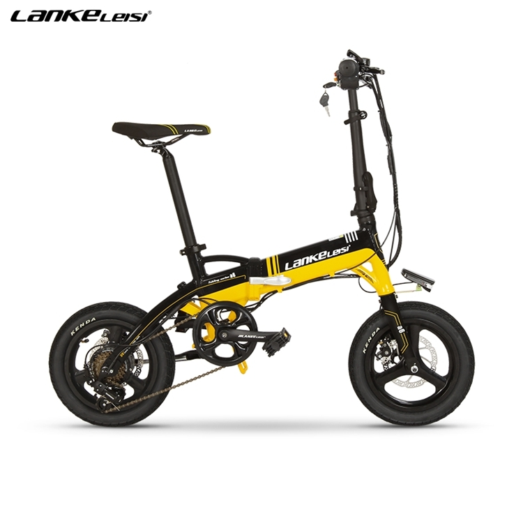 "A6 EU Quality Level 14"" inch portable Folding Electric Mini Bicycle Adjustable  for Cycling with LG Lithium Battery 5"