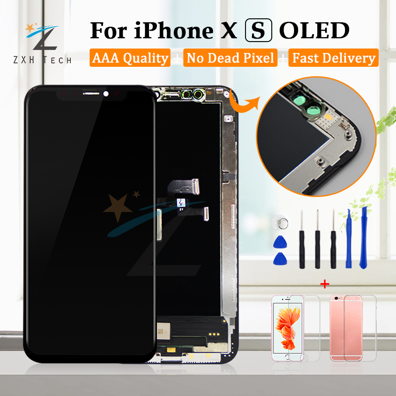 Grade AAA For IPhone X  XS OLED LCD Display For IPhone X LCD With 3D Touch Screen Digitizer Replacement Assembly  With Waterpoof