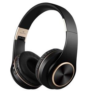 Image 1 - Scrub Wireless Headphone Portable Bluetooth 5.0 Earphone Foldable Handsfree Headset For Ear Head Phone iPhone Xiaomi Huawei