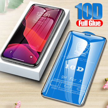 10D Full Glue protective glass For apple iphone 11 pro max X XS XR tempered glas on aiphone aifon 7 8 plus screen protector Film