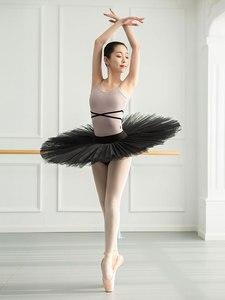 Image 4 - בנות בלט בגד גוף בלרינה מסיבת שרוולים ריקוד התעמלות סרבל בלט תחפושות Turnpakje בגד גוף טוטו Dancerwear