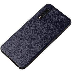 Image 5 - יוקרה עור טלפון מקרה עבור xiaomi mi 8 לייט A2 A1 9T 9 SE מקרה עמיד הלם אמיתי עור חזרה כיסוי עבור redmi הערה 7 K20 מקרה