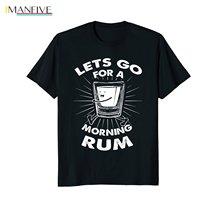 цена 2019 New Summer Casual Men Tee Shirt Lets Go for a Morning Rum runners joggers jogg t shirt онлайн в 2017 году