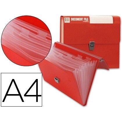FOLDER BEAUTONE CLASSIFICATION BELLOWS 32170 Polyprophylene DIN A4 RED NO HANDLE SUPERLINE 8 DEPARTMENTS