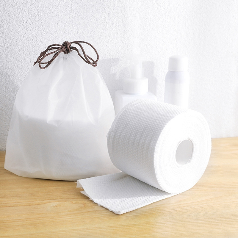 13 X 10cm Disposable Face Towel Facial Tissue Makeup Wipes Cotton Pads Facial Cleansing Roll Paper Tissue 3 Roll