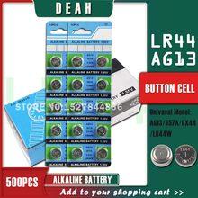DEAH – piles alcalines pour montres et jouets, 500 pièces, AG13 LR44 1.55V, AG 13 LR44W LR1154 SR44 A76 357A 303 357