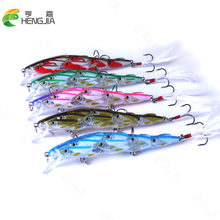 New Arrival Shoal Type Minnow Hard Baits 11.5cm 15.7g Fishing Lure 5pcs 4# Hooks Crankabaits Wobbler With Feather Hook(China)