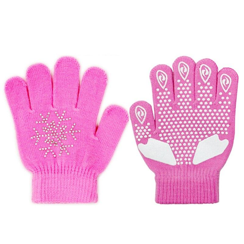 Sports Children Skating Gloves Full Finger Rhinestone Winter Warmer Gloves Thermal Handwear Outdoor Sportswear Accessories NEW!