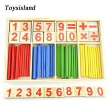 Montessori Educational Wooden Toys Math Toys  for Children Early Learning with Number Sticks Sensory Integratio Montessori Game montessori educationcolour contrast professional pack beech wood sensory toys early educational toys free shipping