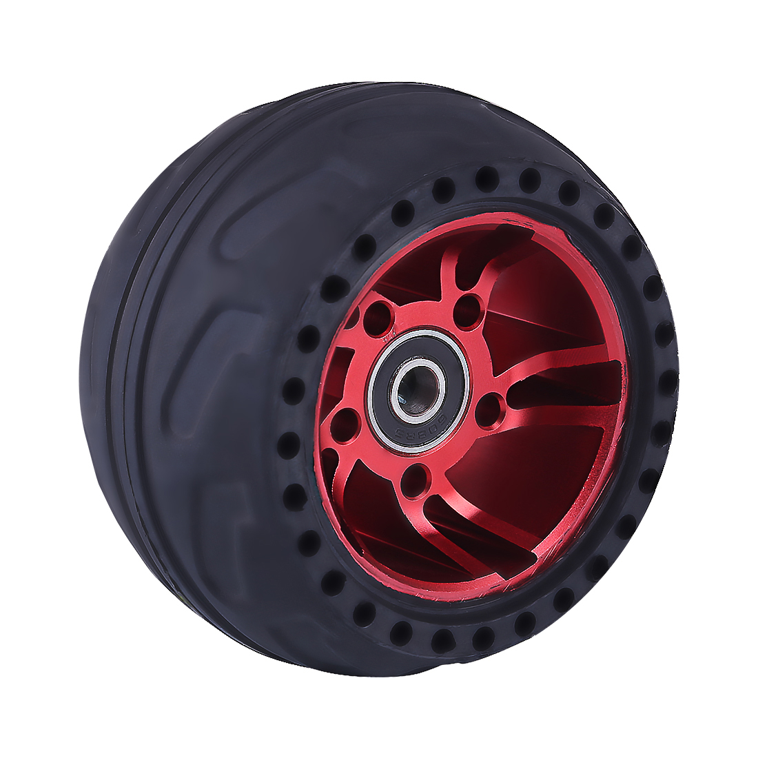 105LMH All Terrain Wheel Rubber Tire Accessories For Skateboard Outdoor Sports Fun - Red