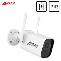 ANRAN-cámara de vigilancia inalámbrica para exteriores, dispositivo de seguridad inteligente con batería recargable, alarma PIR, impermeable, WIFI, 1296P